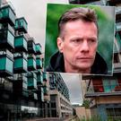The Cubes in Sandyford, inset U2 star Larry Mullen Jnr