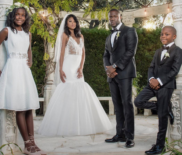 Kevin Hart got married to Eniko Parrish over the weekend in Santa Barbara, CA, and it was picture-perfect. Photo: Instagram