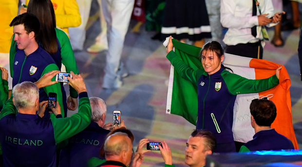Katie Taylor is in action today