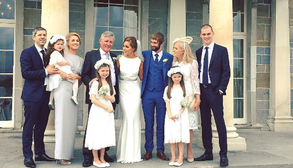 Tara O'Farrell weds long-term boyfriend Daniel Anderson. Photo: Instagram