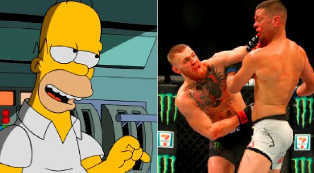 Conor McGregor claims Nate Diaz was like Homer Simpson in their last fight