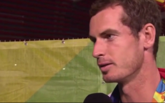 Andy Murray talking to John Inverdale of the BBC last night