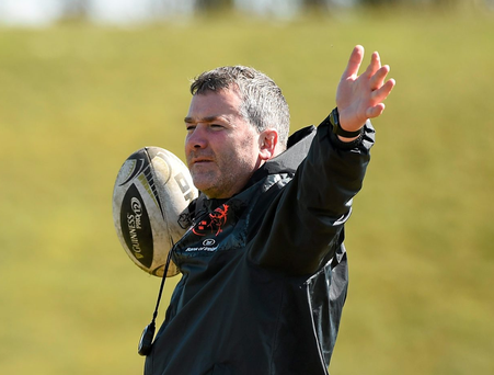 Older sibling Anthony Foley, during Munster squad training. Photo: Sportsfile