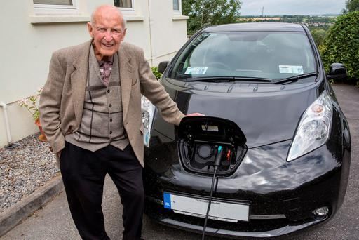 John Walsh is planning a 250km round trip to Limerick in his new Nissan LEAF Photo: John D Kelly