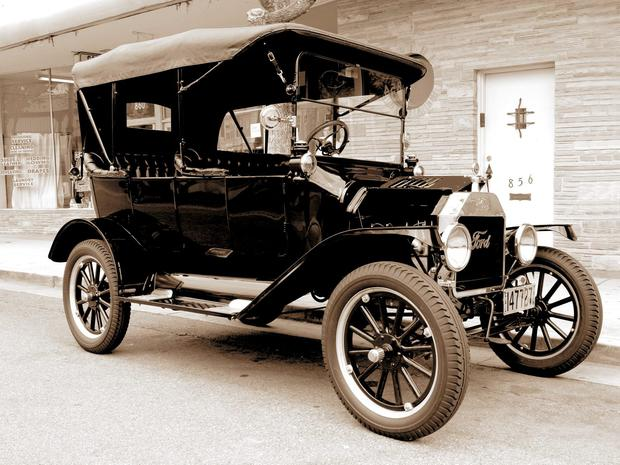 A Ford Model T, like the one John's father owned
