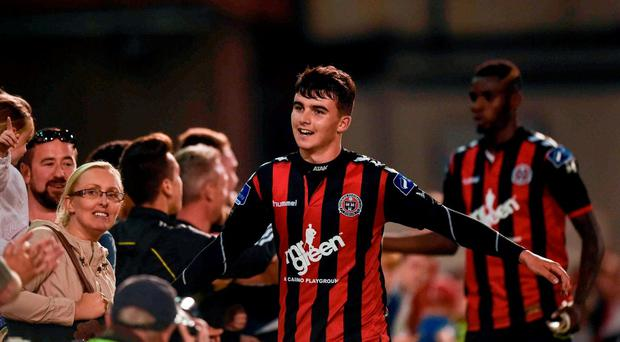 15 August 2016; Stephen Best of Bohemians after the SSE Airtricity League Premier Division match between Bohemians and Sligo Rovers in Dalymount Park, Dublin. Photo by David Fitzgerald/Sportsfile