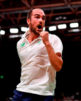 Badminton star Scott Evans has been one of the success stories of these Games, despite his loss. Photo by Stephen McCarthy/Sportsfile