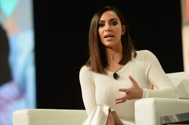 Kim Kardashian West speaks druing the #BlogHer16 Experts Among Us conference at JW Marriott Los Angeles at L.A. LIVE on August 5, 2016 in Los Angeles, California. (Photo by Matt Winkelmeyer/Getty Images)