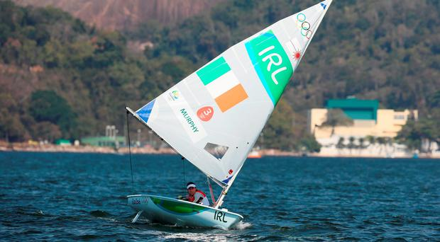 Ireland's Annalise Murphy during the Laser Radial Women's Medal race on the eleventh day of the Rio Olympic Games, Brazil. Martin Rickett/PA Wire