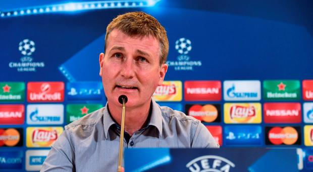 Dundalk manager Stephen Kenny during a press conference at Dublin Stadium in Dublin. Photo by David Maher/Sportsfile