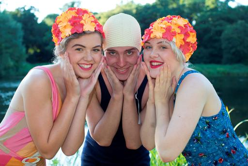 Eva O'Beirne, Dylan Kerr and Megan Russell at Stradbally Lake in Co Laois. The lake will be open to festivalgoers at this year's Electric Picnic. Picture: Alf Harvey/HRPhoto.ie