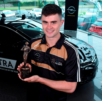 Fresh from collecting his Opel GPA Footballer of the Month award for July, Tipperary sharpshooter Michael Quinlivan will be aiming to drive through the heart of Mayo's defence at Croke Park on Sunday. Photo: Matt Browne/Sportsfile