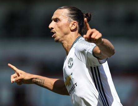 Manchester United's Zlatan Ibrahimovic. Photo: Matthew Ashton/ AMA/Getty Images