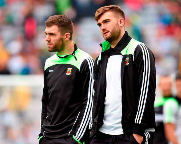 Mayo's Aidan and Seamus O'Shea. Photo: Stephen McCarthy / Sportsfile