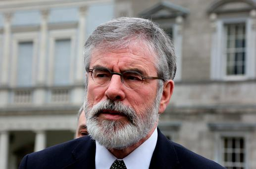Sinn Féin's Gerry Adams. Photo: Tom Burke