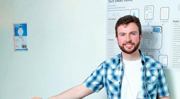 David Walshe from GMIT with his project Tech Smart Home