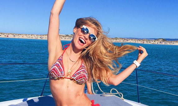 Model and fitness guru Maeve Madden shared her tips for staying healthy on holiday. Picture: Instagram