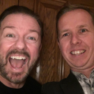 Ricky Gervais and journalist Kevin Palmer.