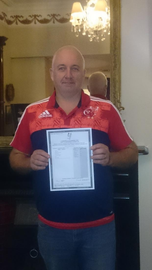 Billy Molloy collected his Leaving Cert results this morning and will become a student of WIT in September