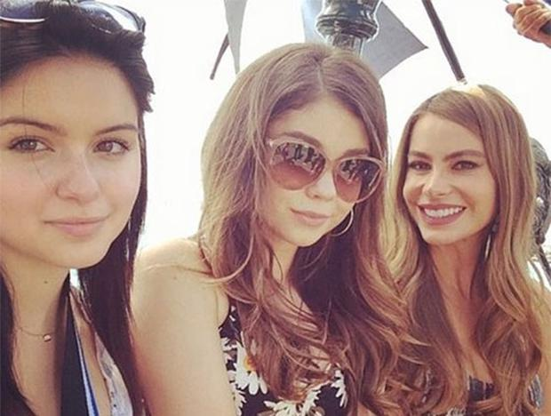 Modern Family stars Ariel Winter, Sarah Hyland and Sofia Vergara. Photo: Instagram