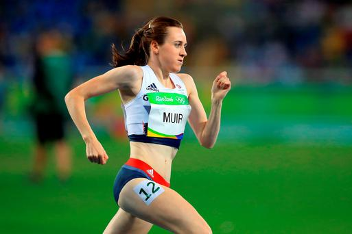 Great Britain's Laura Muir competing in the Women's 1500m Final at the Olympic Stadium on the eleventh day of the Rio Olympics Games, Brazil.