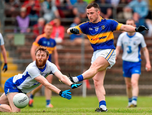 Kevin O'Halloran in action against Waterford's Thomas O'Gorman during Tipperary's Munster SFC victory in May. Photo: Matt Browne/Sportsfile