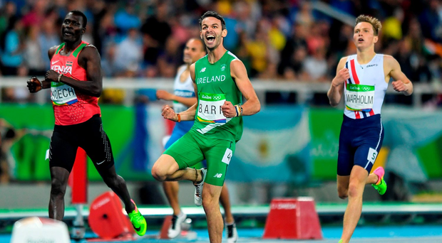 Ireland's Thomas Barr beams with delight after winning his Olympic semi-final in a personal best time. Photo: Ramsey Cardy/Sportsfile