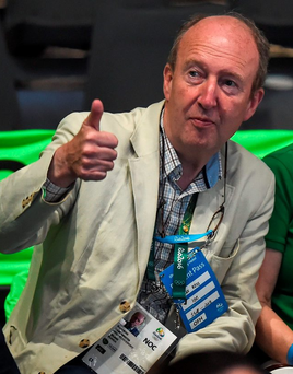 Shane Ross watches the boxing from the stands at the Olympics in Rio. Photo: Stephen McCarthy