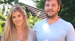 Iain Henderson enjoys a drink with his new fiancee Suzanne Flanagan