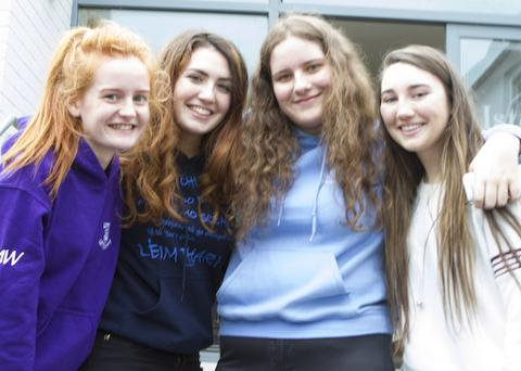 Loreto Convent students Megan Ward, Michaella Bonner, Afric Doherty and Kathleen Sweeney were happy with their results in the Leaving Cert. (North West Newspix)