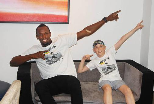 Usain Bolt with Alex