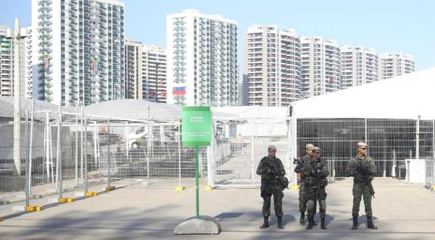 Athletes were warned about leaving the security of the Olympic village. CREDIT: REUTERS
