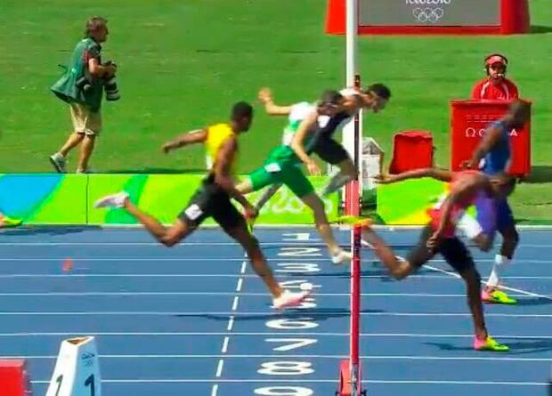 Thomas Barr is pipped on the line for bronze by Turkey's Yasmani Copello in the 400m hurdles final in Rio yesterday