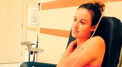 Charlie Webster in hospital in Rio. Photo: PA