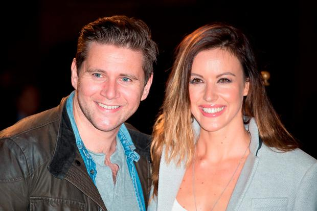 Charlie Webster with 'Downton Abbey' star Allen Leech. Photo: PA