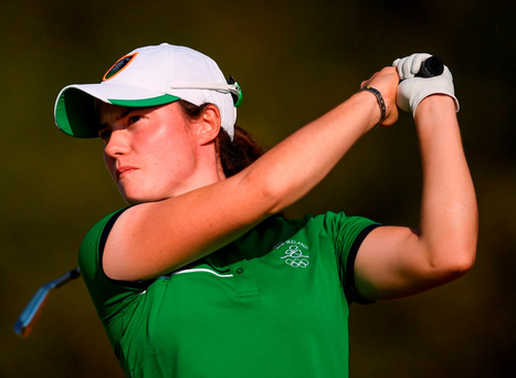 Leona Maguire bounced back in spectacular fashion from an opening 74 to register her credentials for a medal challenge with a six-under-par second-round display. Photo: Sportsfile