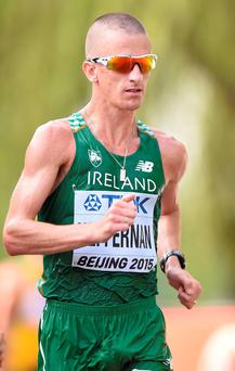 Rob Heffernan's upgrade secured Ireland's first Olympic medal in walking. Photo: Sportsfile