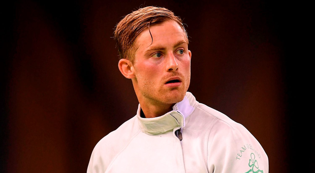 Arthur Lanigan-O'Keeffe had a total of 16 wins and 19 defeats after a day's fencing. Photo: Sportsfile