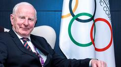 Pat Hickey at the 2015 European Games in Baku. Photo: Jack Guez