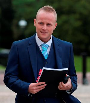 Jamie Bryson. Photo: PA Wire