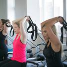 Amy Mulvaney training alongside Rosanna Davison. Picture: Pilates Plus Dublin.