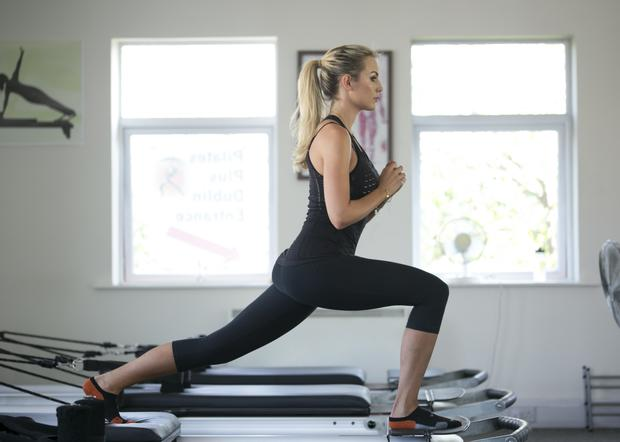 Rosanna Davison is the brand ambassador for Pilates Plus Dublin.