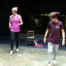Our reporter Amy Mulvaney dancing alongside Matthew Lyons and Henry Farmer who star in Billy Elliot: The Musical.