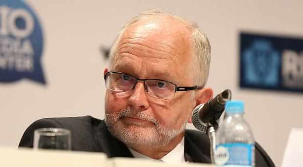 RIO DE JANEIRO, BRAZIL - AUGUST 07: IPC President Sir Philip Craven speaks onstage during a press conference concerning Russian Athletes and the Paralympics at the Rio Media Center on August 7, 2016 in Rio de Janeiro, Brazil. (Photo by Joe Scarnici/Getty Images)