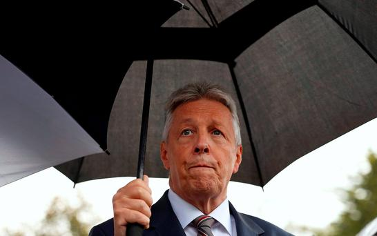 Former NI First Minister Peter Robinson was named in testimony to a Stormont committee by Jamie Bryson. Photo: REUTERS/Cathal McNaughton