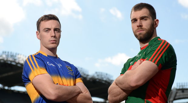 Alan Campbell and Séamus O'Shea ahead of the semi-final Photo by Seb Daly/Sportsfile