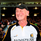Brian Cody shows his delight after the final whistle in Thurles last Saturday Photo by Piaras Ó Mídheach/Sportsfile