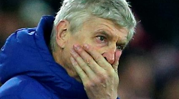 'For a decade Wenger has suffered far more of those de-stabilising defeats than he cares to remember but each time he has re-surfaced with the aggrieved expression of, if not a martyr, then someone whose vision and priorities have been gravely misunderstood' Photo: AMA/ Corbis via Getty Images