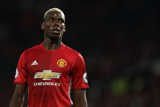 Paul Pogba of Manchester United during the Premier League match between Manchester United and Southampton at Old Trafford