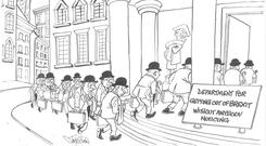 'No more than the politicians, the people don't want to be held accountable either' Cartoon: Jim Cogan